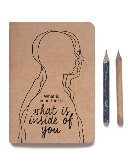 NEWLY RELEASED -- 'Pencil for Life' A6 kraft notebook. Let these words of wisdom about the humble pencil keep you company as you write, sketch, draw or doodle in this neat little notebook. Available now in lined or blank pages.