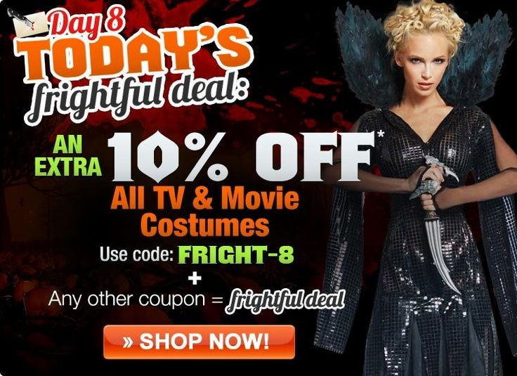 Costumes as low as $6.74! Take 25% OFF Movie & TV Character Costumes!
