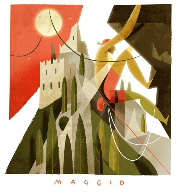 Calendario Cassa Rurale dell'Alto Garda by Riccardo Guasco, via Behance