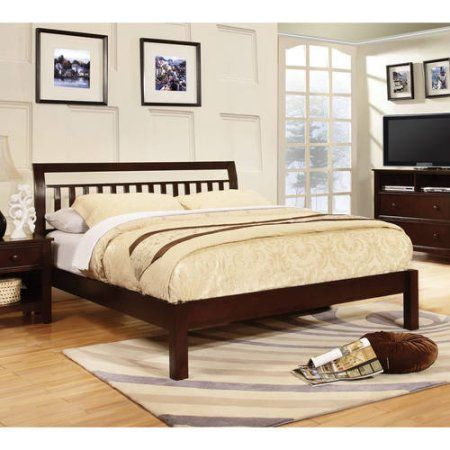 Furniture of America Alita Transitional Slatted Design Queen Platform Bed,  White
