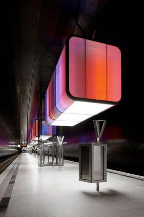 """Metro station """"Hafencity Universität"""" by Raupach Architekten, Munich via www.detail.de"""