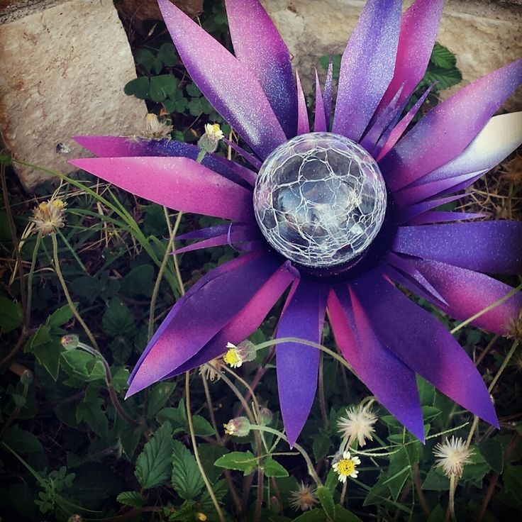 Another beautiful purple and pink solar light ready to ship! :)