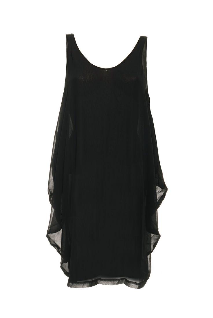 Samsoe dress kalalau black. Wide black dress. Now with 50% off on vimodos.com.