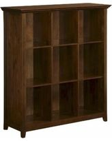 Book case: Simpli Home Acadian Collection 9 Cube Storage Bookcase