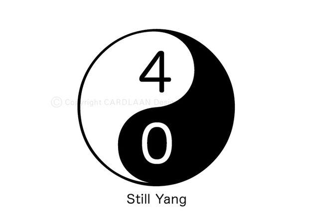 Einladung 40. Geburtstag (YinYang)