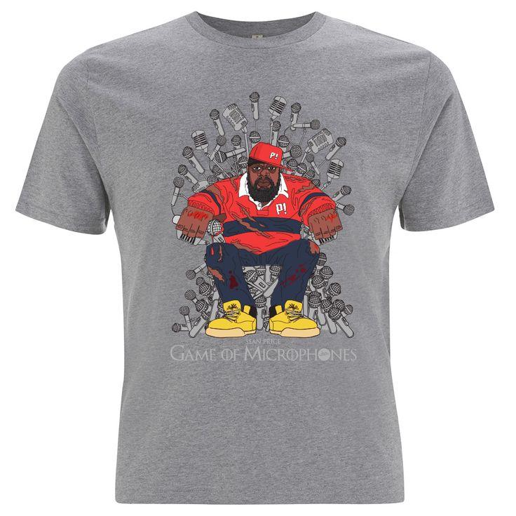 Sean Price! Game of Microphones T-Shirt (Grey)