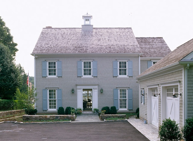 Terrific colonial with center cupola.  Always liked the L shaped layout of house and garage