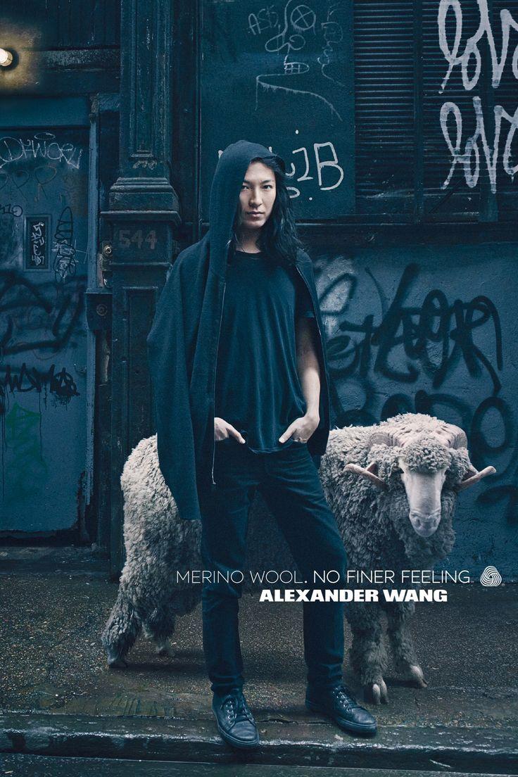 Annie Lebovitz photographs Alexander Wang for the Woolmark Company! Read on!: http://www.woolmark.com/alexander-wang-nff #alexanderwang