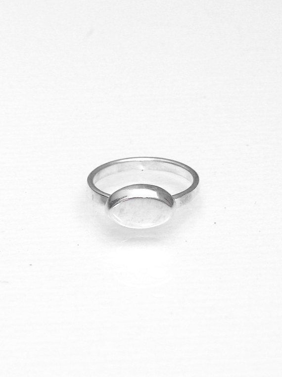Oval Ring  Oval Signet Midi Ring  Oval Signet by profoundgarden