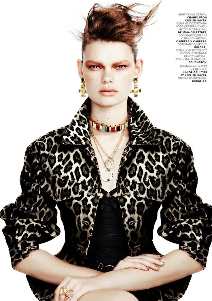 Kelly Mittendorf Dons Gems with Edge for Emma Tempests Vogue Russia Shoot