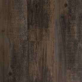 $1.47 per plank  Style Selections 6-in x 36-in Antique Woodland Oak/Dark Brown Peel-and-Stick Rustic Vinyl Plank