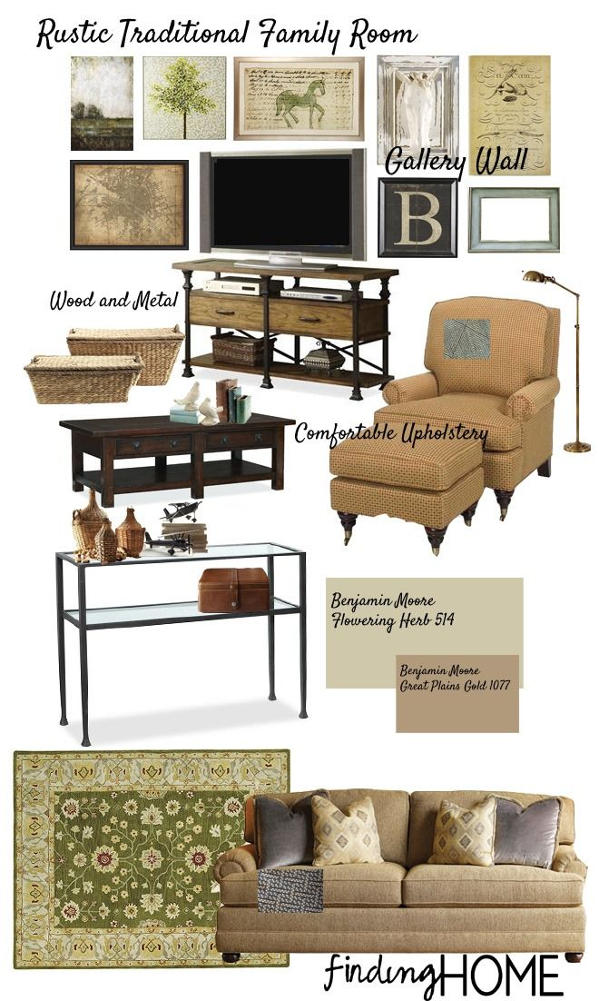 Decorating Ideas: Rustic Traditional Family Room | FindingHomeOnline.Com