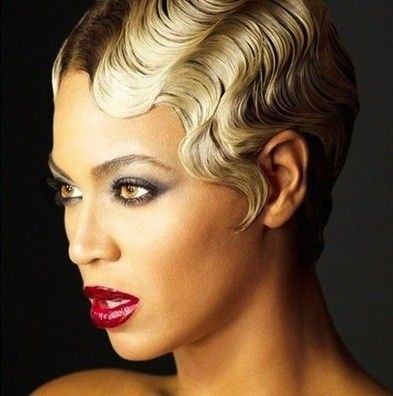 Finger Wave Hairstyle black short hair style quick finger waves and natural curl Finger Waves