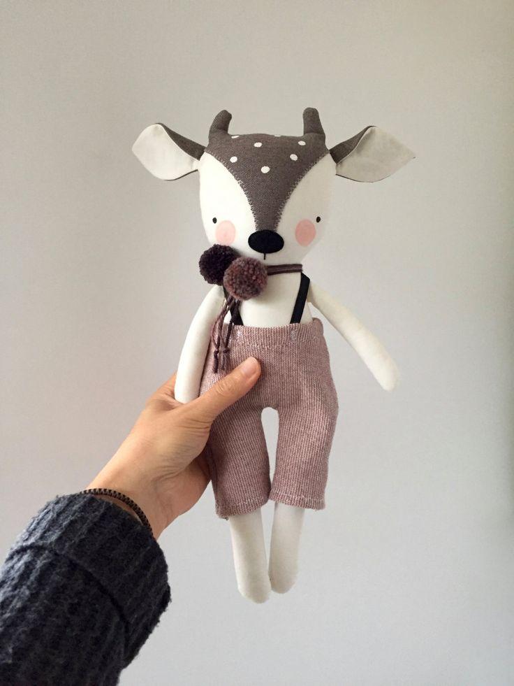 luckyjuju handmade fawn deer doll - boy