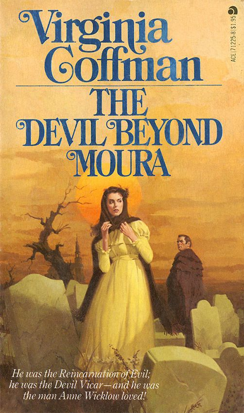 Romance Book Cover Questions : The devil beyond moura by virginia coffman vintage gothic