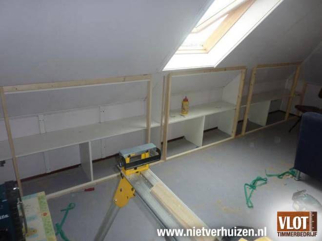 Kasten onder het dak diy ideas for the home pinterest - Kantoor onder het dak ...