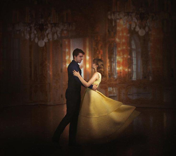 Beauty and the Beast portrait, dance photography, ballroom, dance, dancing, dancers, couple, love