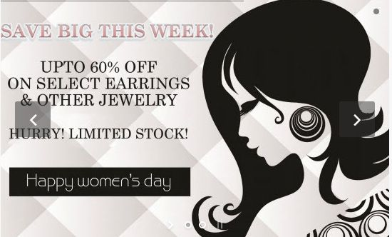 This Women's Day, be your kind of beautiful in your own style with Latest ‪#‎Fashionable‬ ‪#‎Collection‬ of ‪#‎Fancy‬ Designer ‪#‎Jewellery‬ at Karigari.  ‪#‎online‬ ‪#‎earrings‬ ‪#‎shopping‬