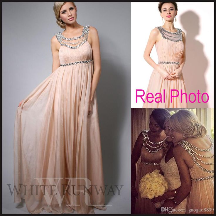 Light Pink Bridesmaid Dresses Crystal Long Bridesmaid Dresses Beaded Chiffon Sheer Neck Blush Wedding Guest Bridal Party Prom Gowns 2015 Plus Size Maternity Cheap Romantica Bridesmaid Dresses From Gaogao8899, $89.01  Dhgate.Com