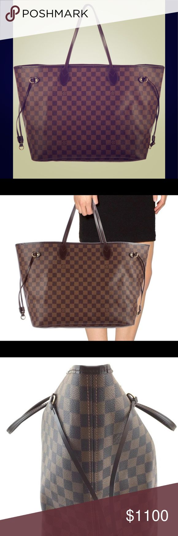 💕AUTHENTIC NEVERFULL GM EBENE💕 100% AUTHENTIC LOUIS VUITTON NEVERFULL GM. NO TRADES. $1100 via P AY P A L SINCE POSH TAKES HUGE FEES. This price is for P A Y P A L price. Want to buy it here I have to price it higher since posh takes huge fees. DATE CODE FL4080 Louis Vuitton Bags Shoulder Bags