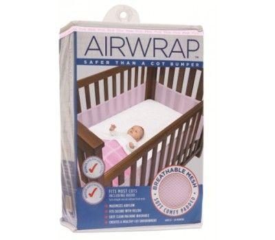 Airwrap cot bumper - white
