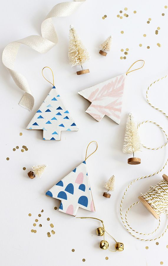 DIY:+Fabric-Covered+Christmas+Tree+Ornaments+by+AliceandLois+for+Julep