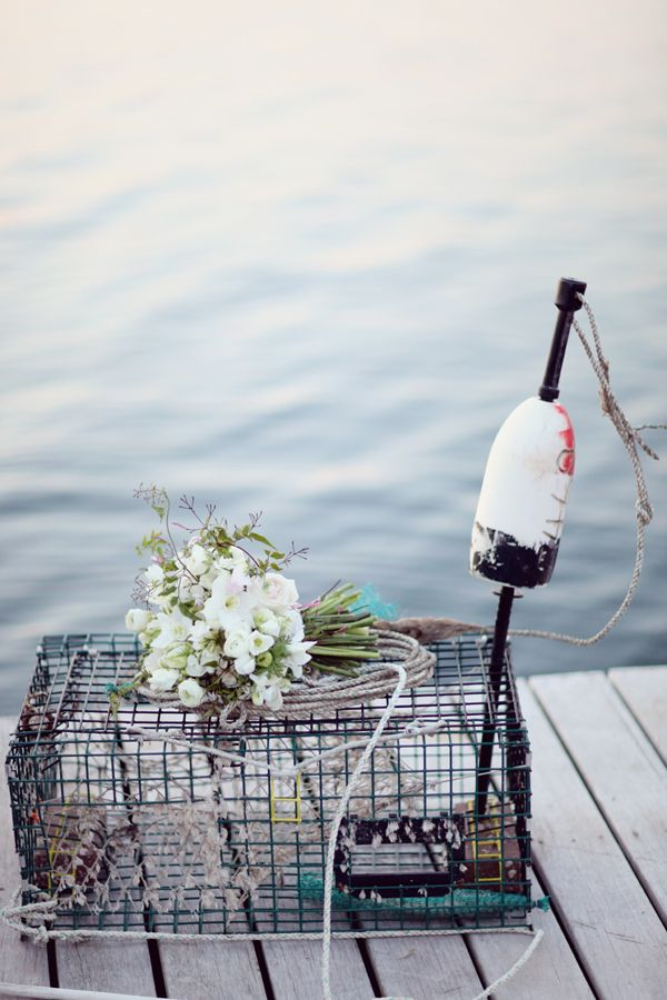 lobster pot wedding decor