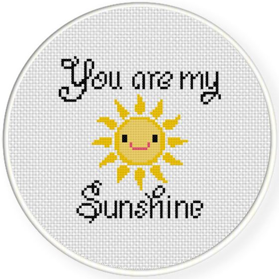 FREE You Are My Smiling Sunshine Cross Stitch Pattern