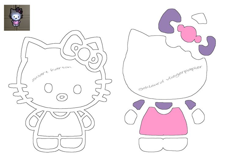 DIY Hello Kitty lampion (printen op A3 formaat)