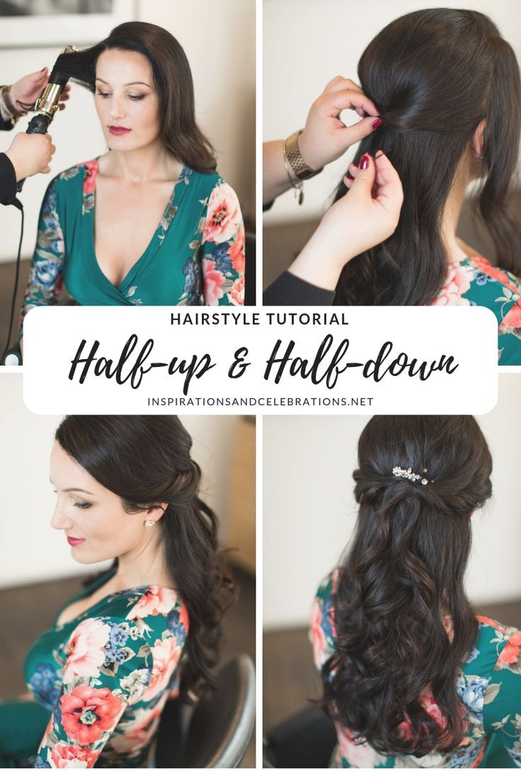 Hairstyle Tutorial: A Gorgeous Half-Up Half-Down Hairstyle for Any Celebration #weddinghairstyles