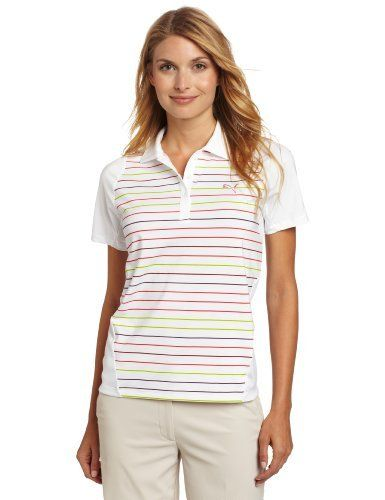 Puma Golf Women's Duo-Swing Stripe Polo Tee, White, Small by PUMA. $45.00. This moisture wicking polo can help take care of your swing, sweat, and style.