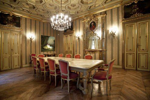 (1717-22) Palazzo Paesana di Saluzzo - La salle du Conseil