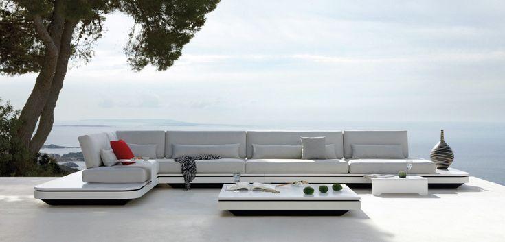 Sleek and modern Belgian furniture designed by Manutti. #interiordesign #furniture #design #modern