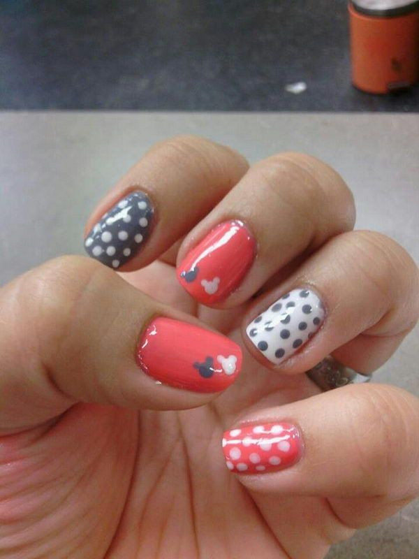25 best ideas about easy disney nails on pinterest