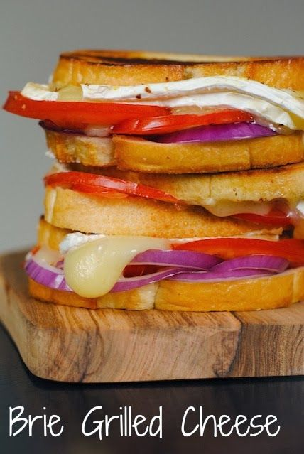 Brie, Tomato & Red Onion Grilled Cheese by Foxes Love Lemons | All the ...