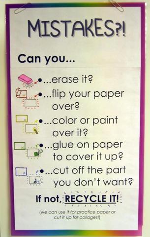 mistakes? art class poster