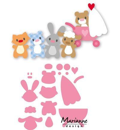 Collectables Stanzschablonen Babytiere