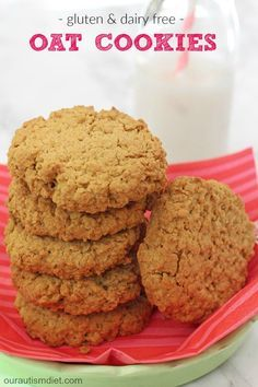 Delicious gluten, dairy and egg free cookies, packed full of oats to make them really filling and lower in sugar too!   Our Autism Diet