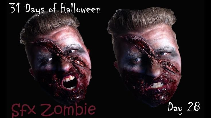 Sfx Zombie[31 Days of Halloween][Day 28]Day 28 is this Sfx Zombie look  #31daysofhalloween #halloween #makeuptutorial #zombiemakeup #zombie #thewalkingdead #makeupartist #sfx #sfxmakeup #malemakeup #malemakeupartist #halloweenmakeup #costumemakeup #halloweencostume #costumemakeup