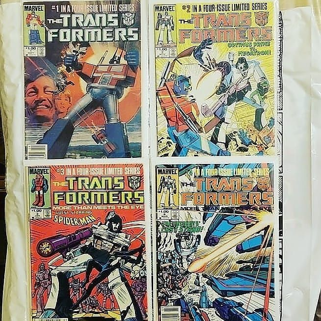 For sale: Transformers 1-4 - First appearance of autobots and decepticons - 40 shipped #batman #dccomics #dc #keycomics #rare #comicbooks #collector #forsale #joker #harleyquinn #marvel #marvelcomics #thor #justiceleague #superman #spiderman #wonderwoman #wolverine #transformers