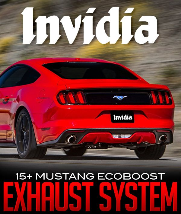 2015-2016 Ford Mustang 2.3L EcoBoost Invidia Q300 Cat-Back Exhaust… #New_Products #2015_2016_Ford_Mustang_2_3L_EcoBoost #Invidia_Downpipe