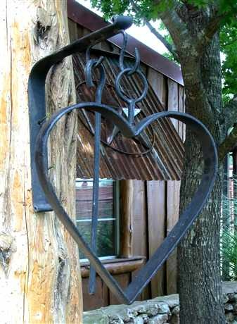 ~ Heart Dinner Bell ~ Cute idea for any porch or back door....great hook for any bell set!