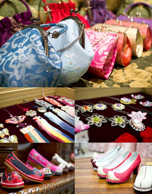 Korea Traditional Clutch bag, Traditional clothes accessory, Traditional Shoes, etc.