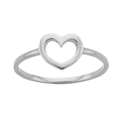 KAREN WALKER JEWELLERY  MINI HEART SILVER RING