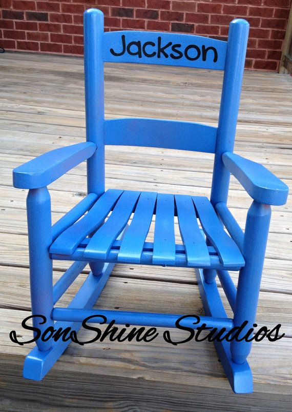 Name Decal for Child's Rocking Chair by sonshinestudios on Etsy, $6.50