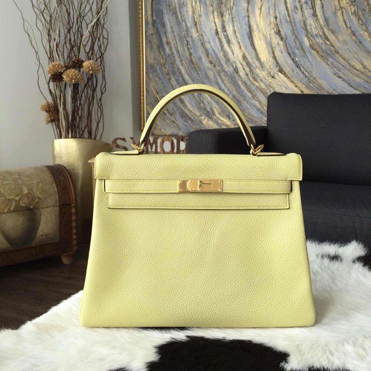 Hermes Kelly 32cm Togo Calfskin Bag Handstitched Gold Hardware ...