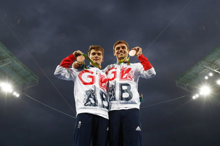Daniel Goodfellow and Tom Daley: Bronze in synchronised 10m platform diving (8…
