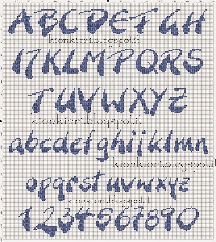 KIONKIORI Punto Croce: Un, Due, Tre... Alfabeti !!