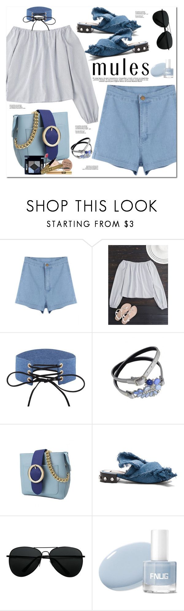 """""""Slip 'Em On: Mules"""" by oshint ❤ liked on Polyvore featuring N°21"""