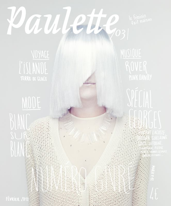Paulette magazine, issue 3, 2012 | Magazine Cover: Graphic Design, Typography, Photography |